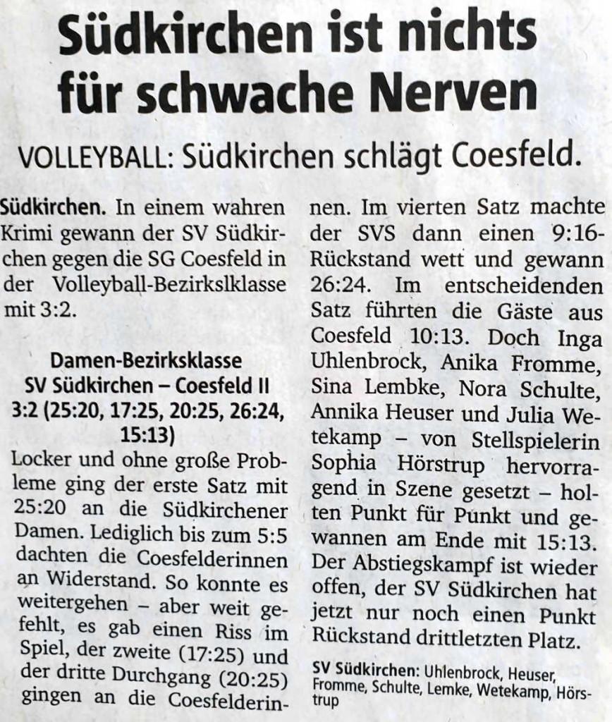 Volleyball DamenSpannung
